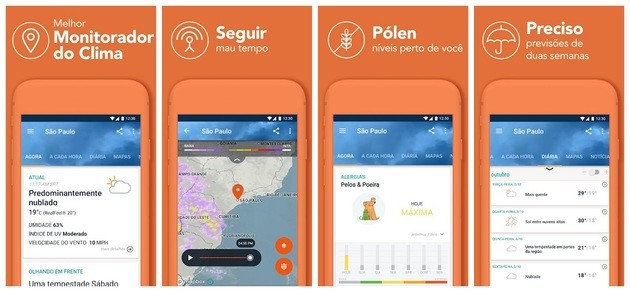 Meteorologia e previsão do tempo com o AccuWeather