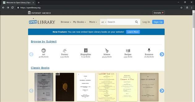 Baixar livros grátis legalmente com a Open Library