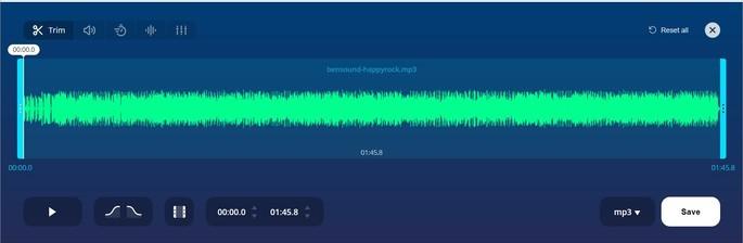 Ferramentas de edição de áudio do site 123Apps
