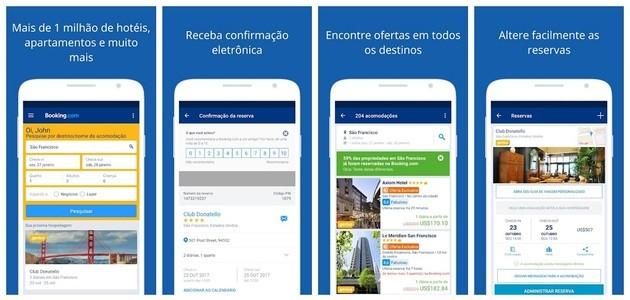 App de viagem Booking para hotel barato