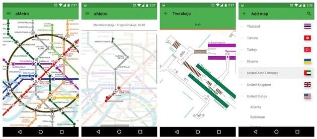 App de viagem aMetro para utilizar o transporte público