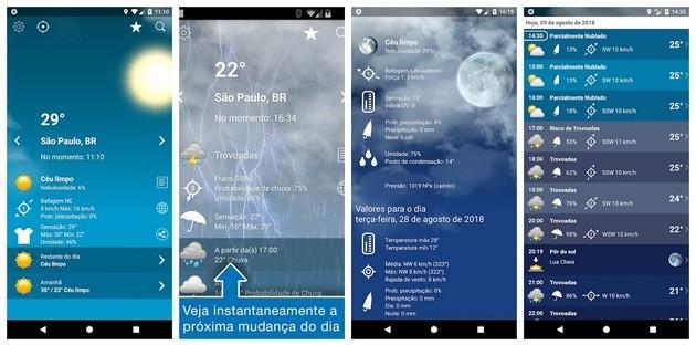 Meteorologia e previsão do clima com o Tempo Brasil