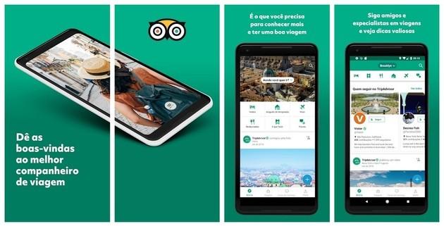 App de viagem TripAdvisor para dicas e recomendações