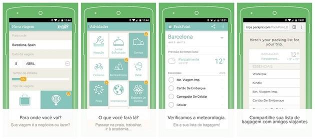 App de viagem PackPoint para organizar e fazer as malas