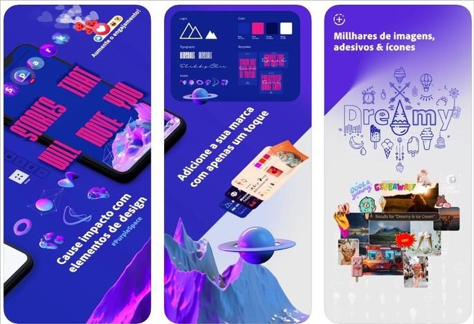 Imagem de divulgação do app Adobe Spark Post