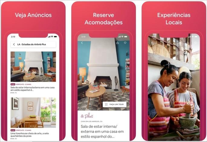 Imagem de divulgação da plataforma de hospedagem Airbnb