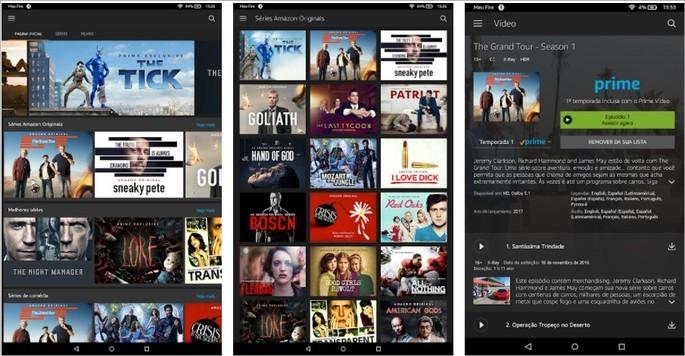 Imagem de divulgaçao do app Amazon Prime Video para Android