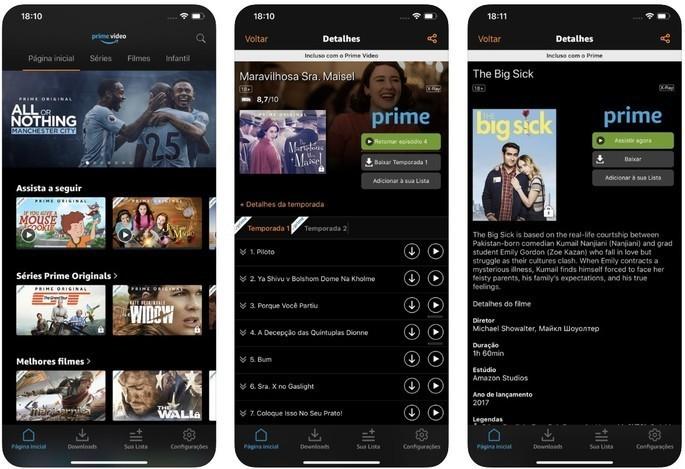 Imagem de divulgação do app de streaming Amazon Prime Video
