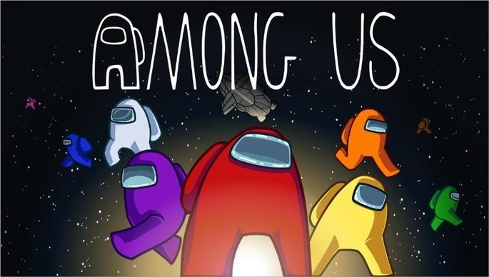 Imagem de divulgação do jogo de sobrevivência Among Us