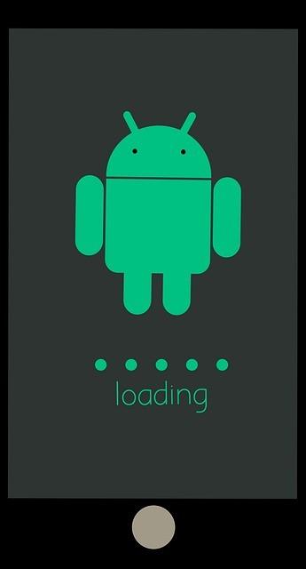 imagem digital de um smartphone com o logo do Android na tela