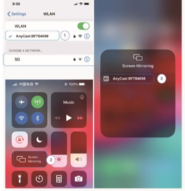 Usando anycast com o iPhone