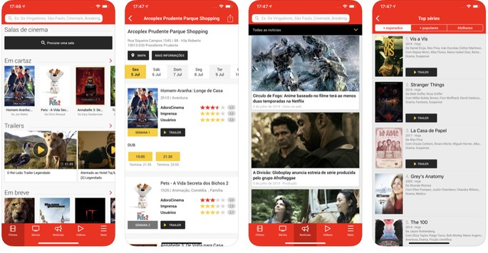 App de Cinema AdoroCinema