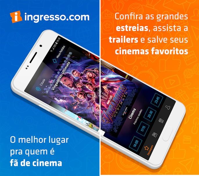 App de cinema Ingresso.com