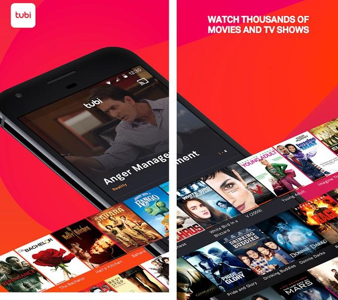 Apps de cinema Tubi