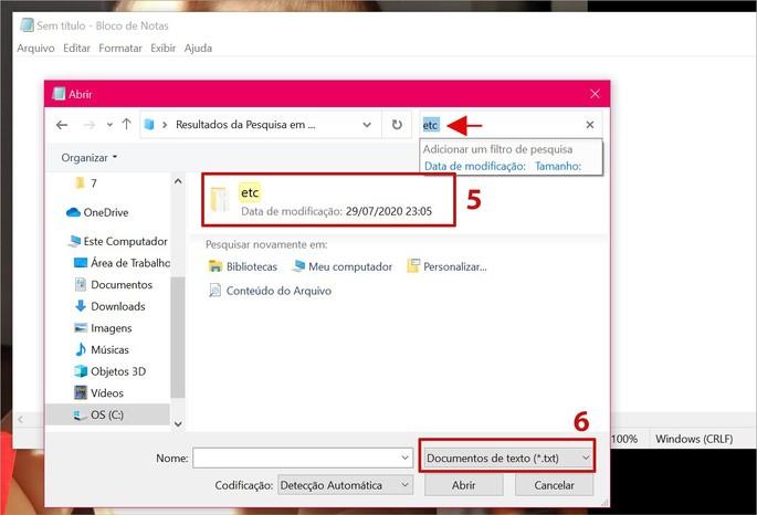 Encontrando a pasta Etc do Windows