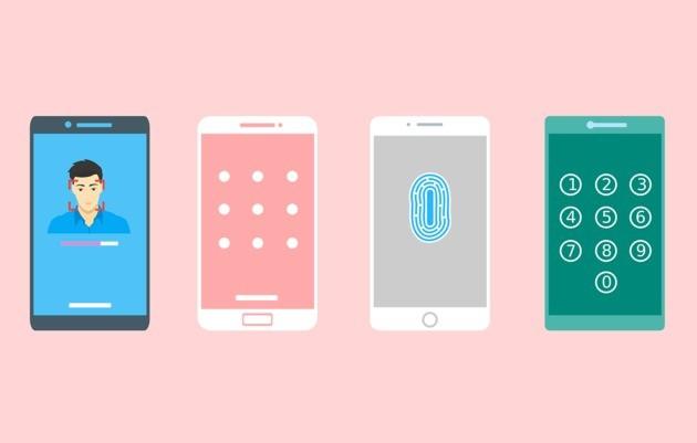 Arte de celulares com proteção e segurança