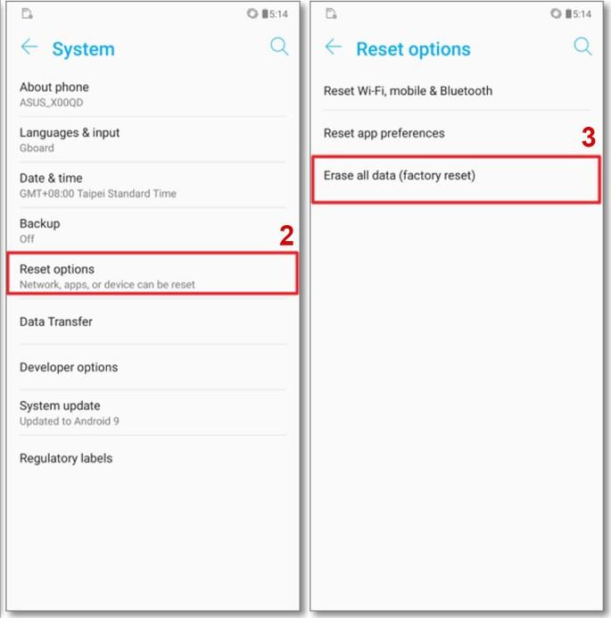 Como reiniciar um smartphone Asus
