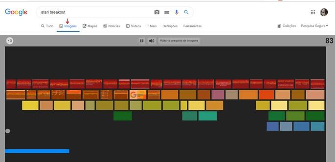 Jogos do Google Atari Breakout