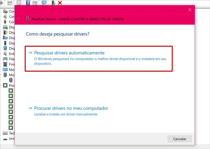 Como atualizar drivers com o Windows Update