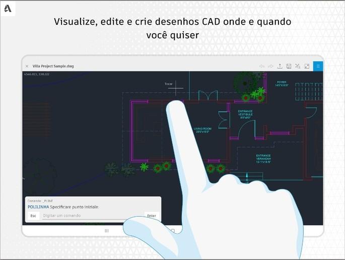 Imagem de divulgação do app AutoCAD