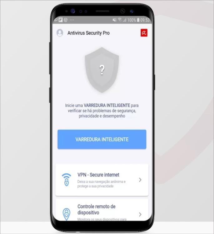 Imagem de divulgação do app Avira Antivirus Security para Android