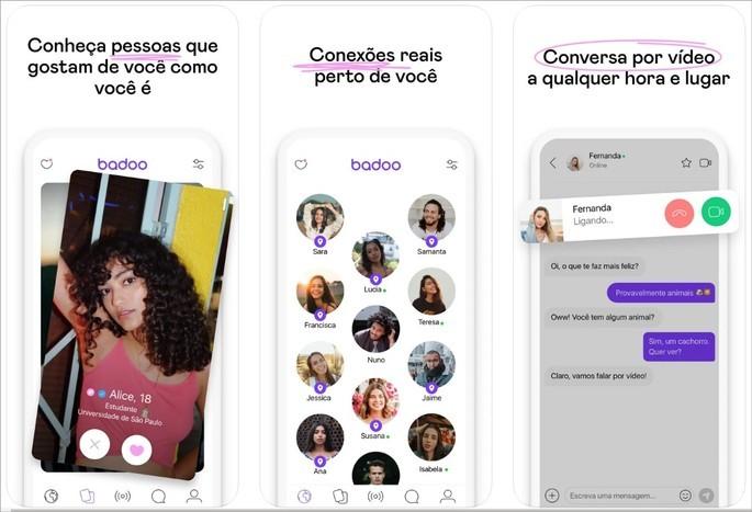 Imagem de divulgação do app Badoo