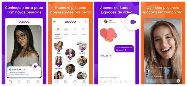 Aplicativo de amizade Badoo