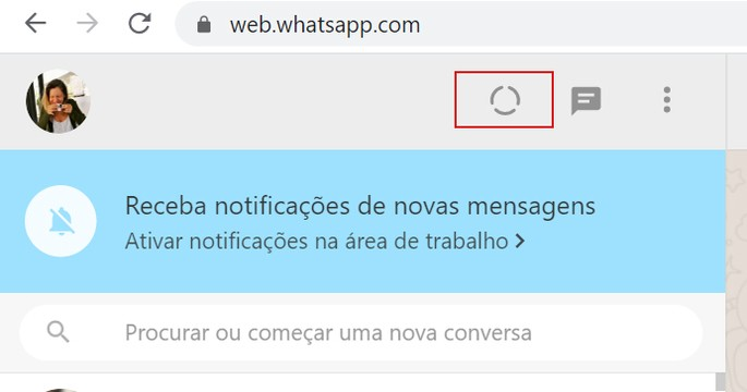 Baixar status do WhatsApp Web