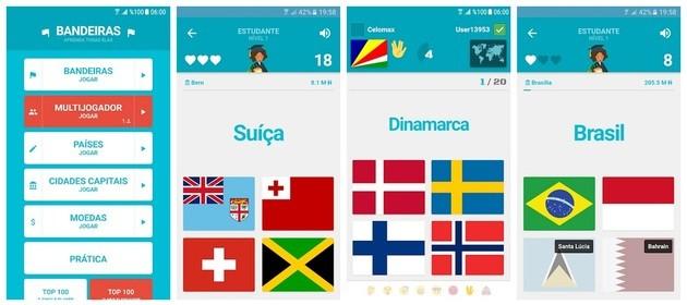 Quiz Bandeiras e Capitais do Mundo