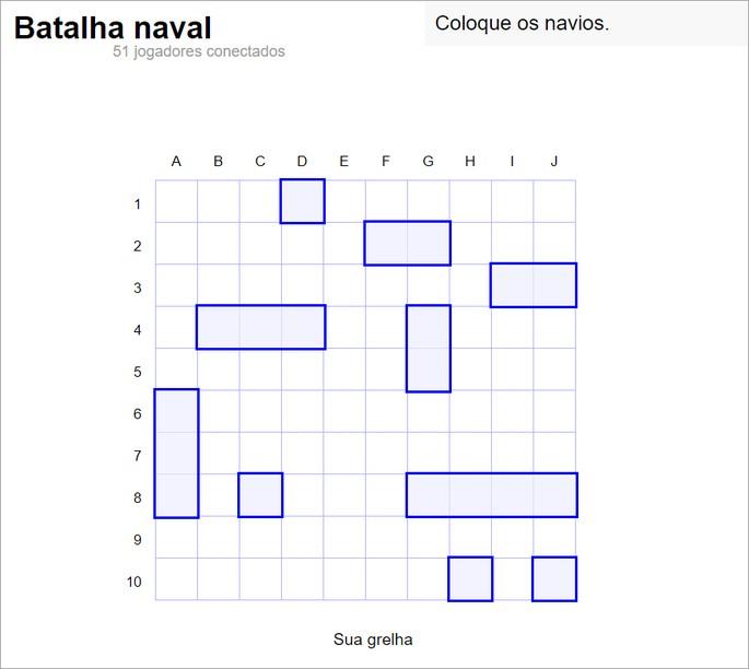 captura de tela do jogo online Battleship