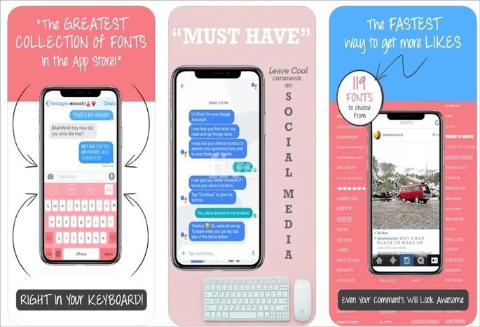 Better Font-s instala teclado com novas opções de fonte no iPhone