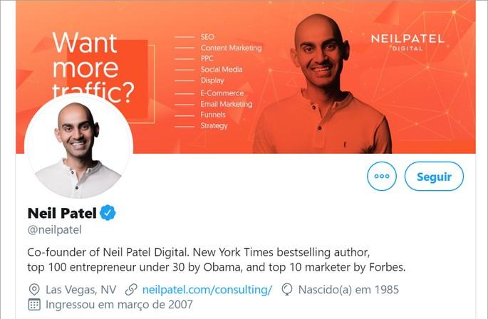 ganhar seguidores no twitter bio