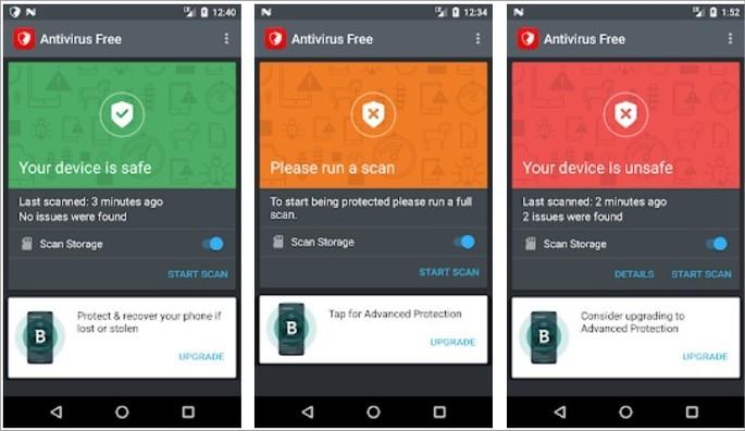 Imagem de divulgação do app de segurança para Android Bitdefender Antivírus Free
