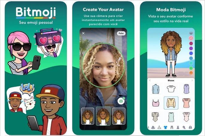 Bitmoji permite criar emojis com seu avatar