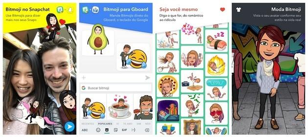 Criar avatar com o Bitmoji