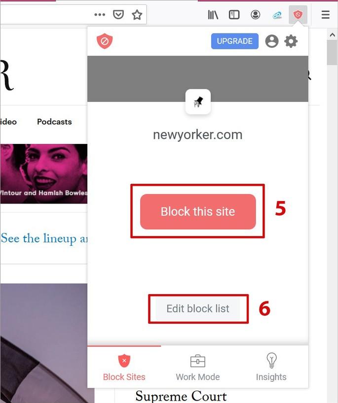 Bloqueando sites no Firefox com o plugin BSite Block