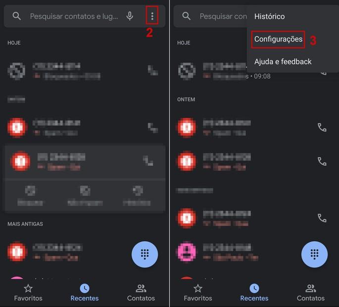 Passo a passo de como bloquear chamadas nas configurações do Android