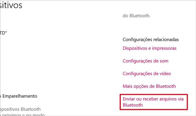 Como receber arquivos via Bluetooth no PC