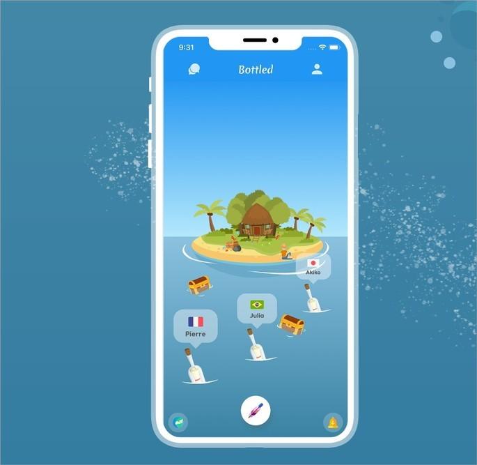 Com app Bottled, usuários jogam garrafas ao mar com mensagens
