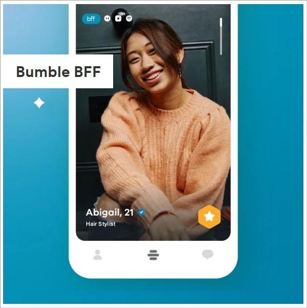 App Bumble permite fazer amizades