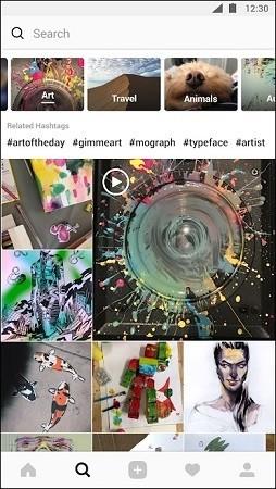 Busca e pesquisa no Instagram