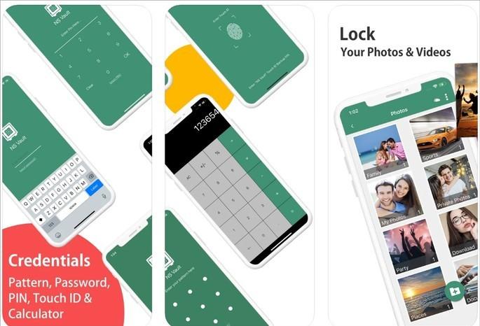 Calculator# oferece diversos recursos além da proteção de fotos e vídeos