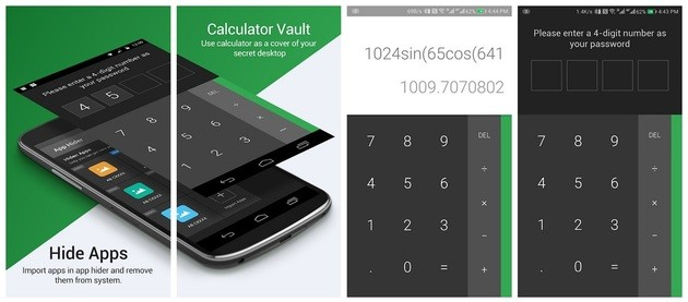 Ocultar aplicativos com o Calculator Vault