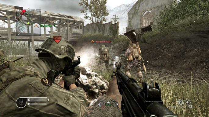 Imagem de divulgação do jogo de tiro Call of Duty 4