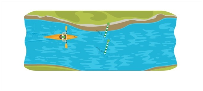 Doodle do Google de canoagem