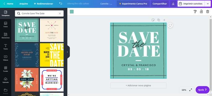 Canva convite online