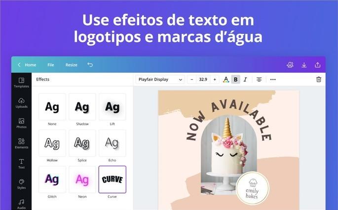 Imagem de divulgação do app de edição de imagens Canva