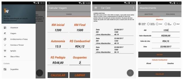 Quilometragem e gerenciamento de automóvel com o Car Care