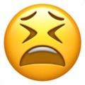 Emoji de carinha cansada