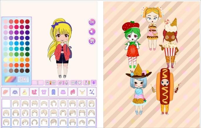 Chibi Dolls para criar avatar no estilo anime